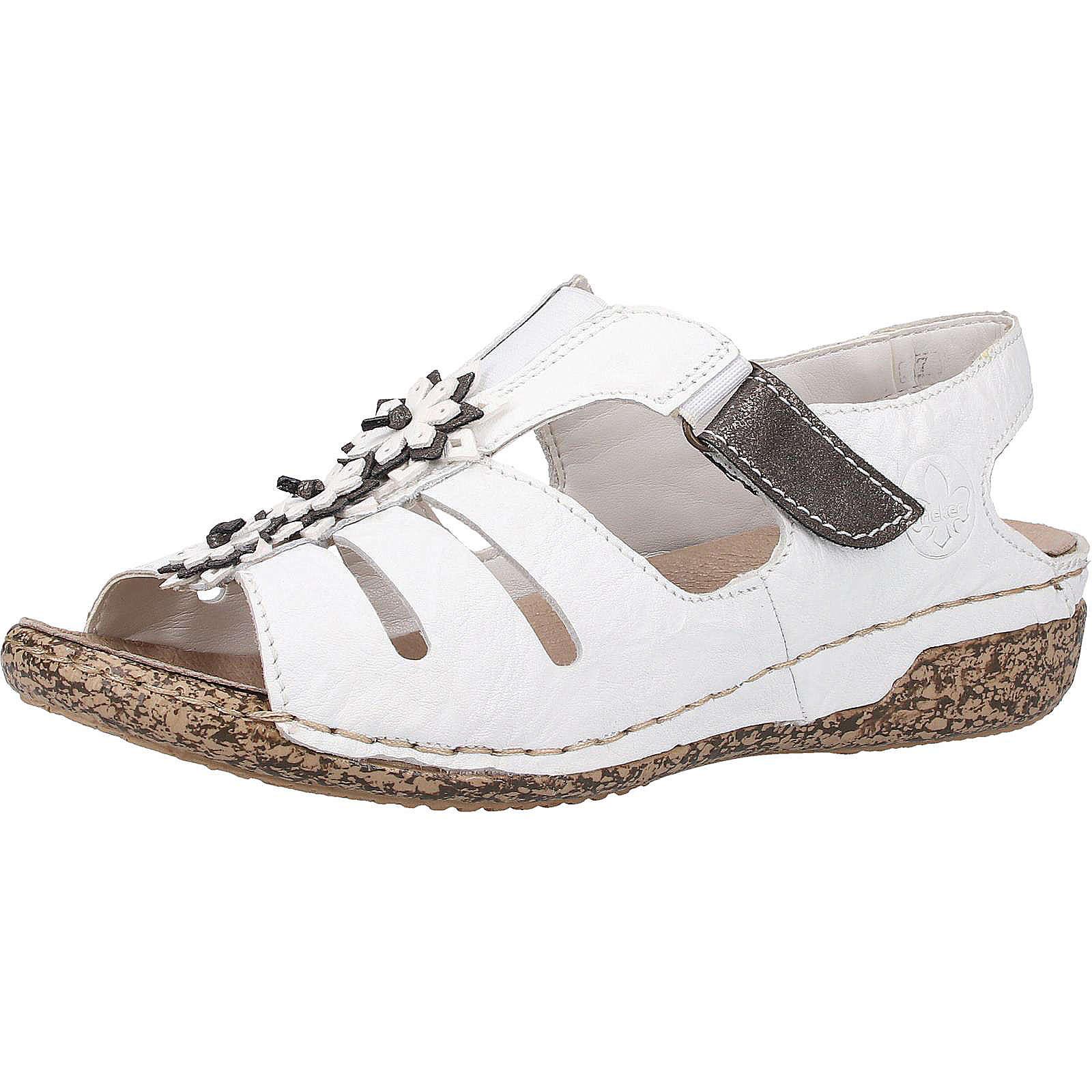 rieker Sandalen Klassische Sandaletten weiß Damen Gr. 37