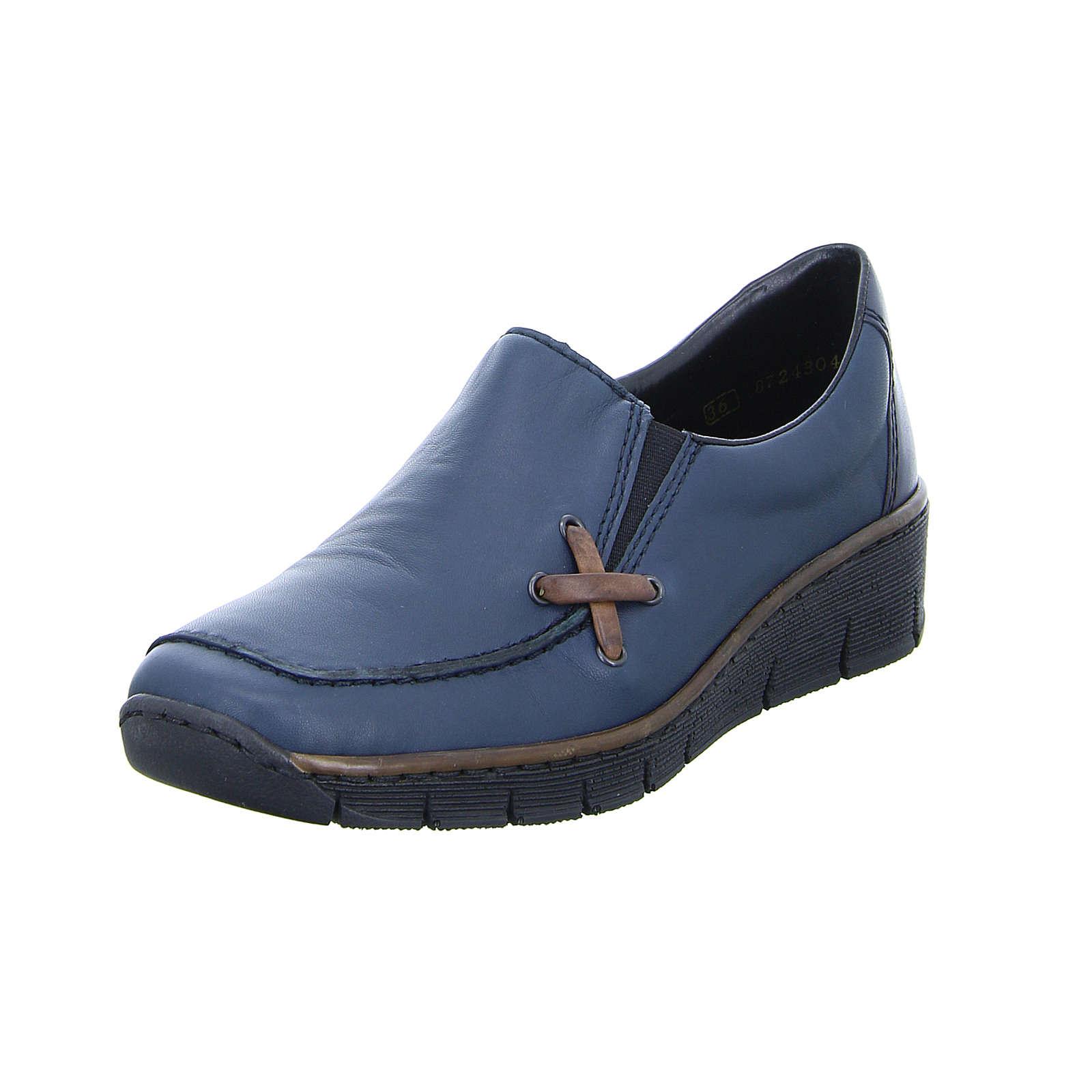 rieker Slipper blau Damen Gr. 36