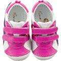 Rose et Chocolat Lauflernschuhe White Pink Purple, Classic Z, für Mädchen pink/weiß Mädchen Gr. 19