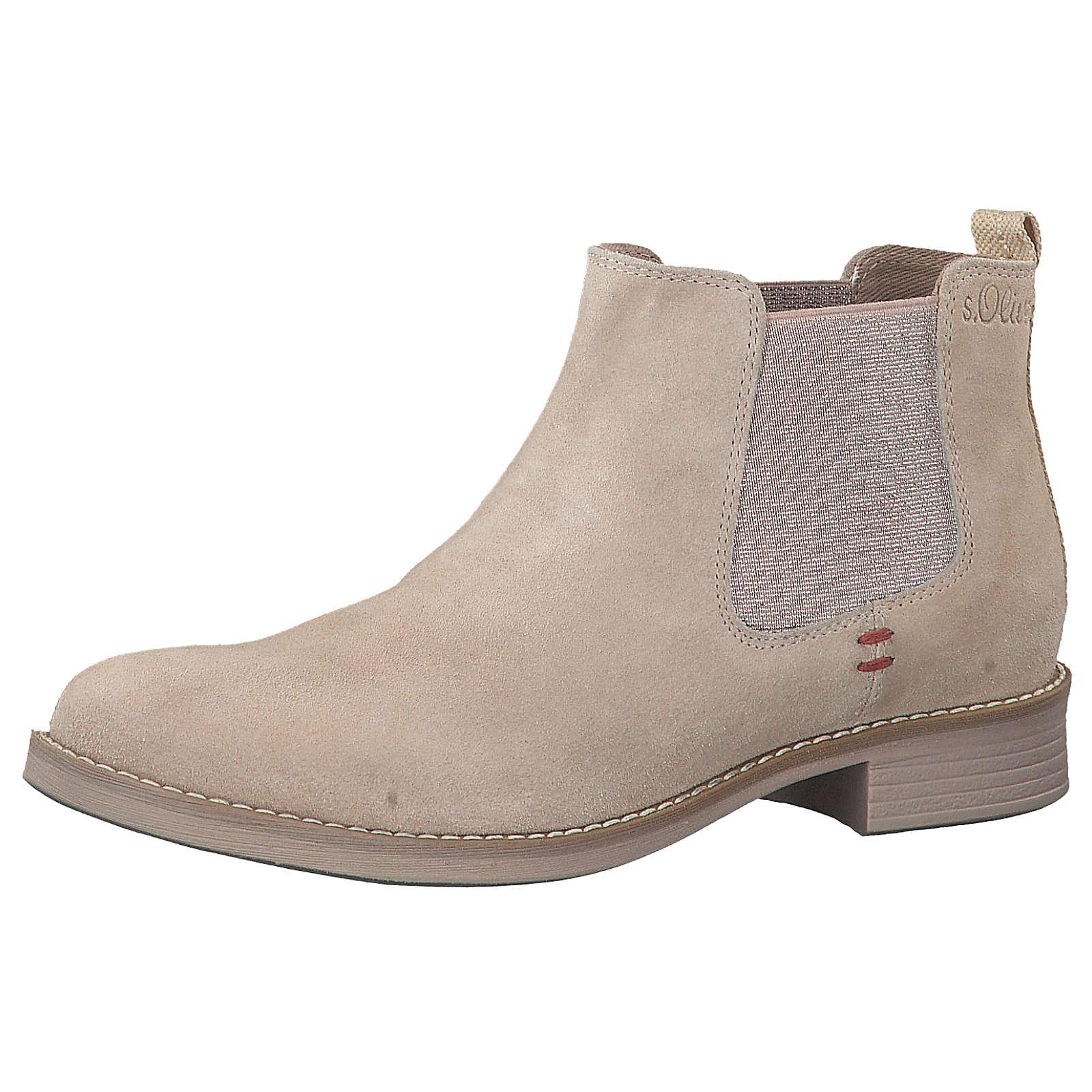 s.Oliver Chelsea Boots beige Damen Gr. 40