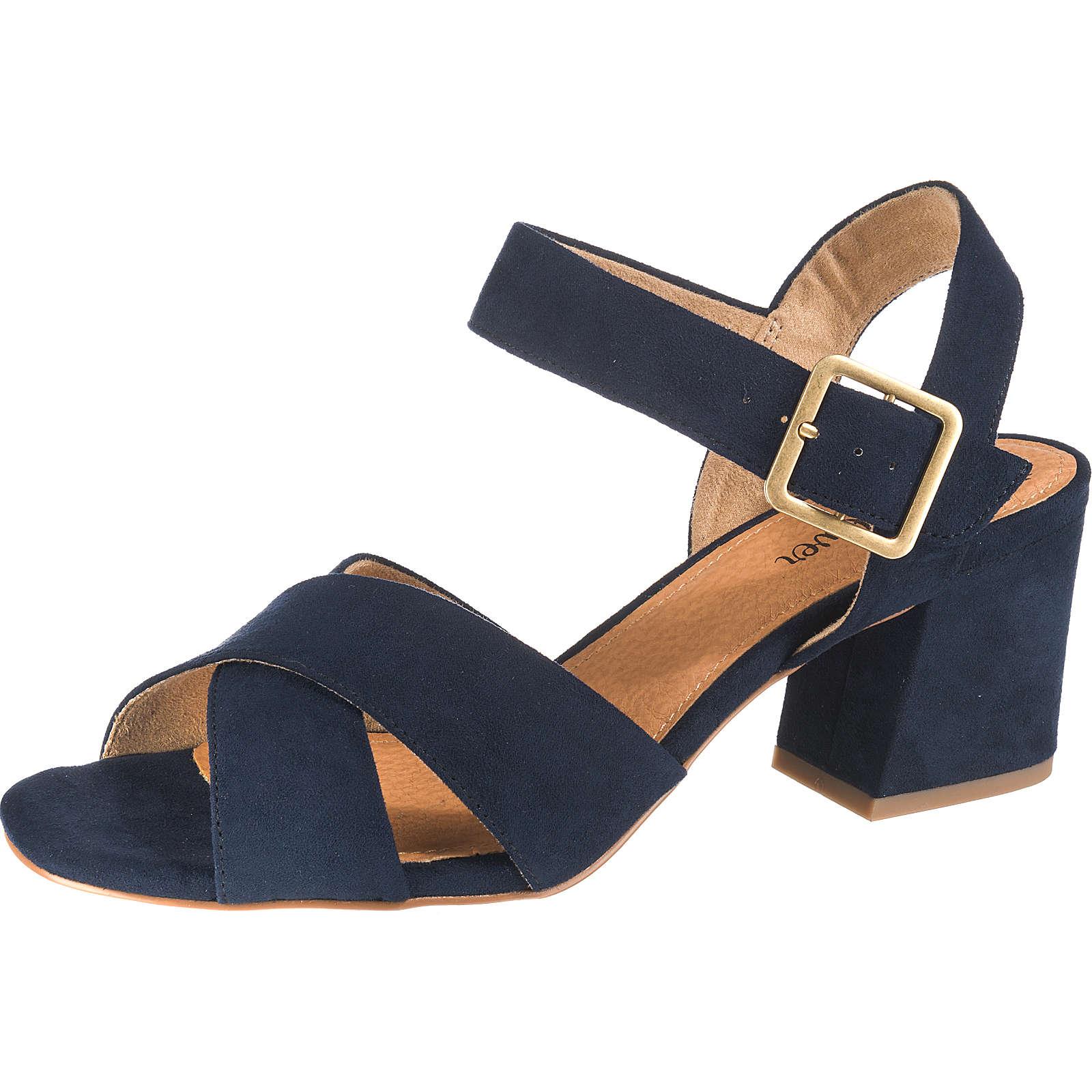 s.Oliver Klassische Sandaletten dunkelblau Damen Gr. 42
