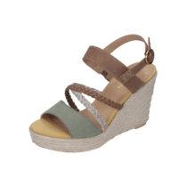 s.Oliver Shoes S. Oliver Damen Sandalette grün Damen Gr. 36
