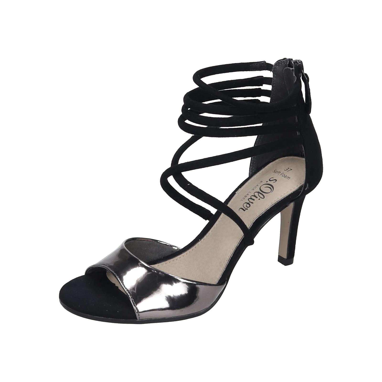 s.Oliver Shoes S. Oliver Damen Sandalette Plateau-Sandaletten schwarz Damen Gr. 39