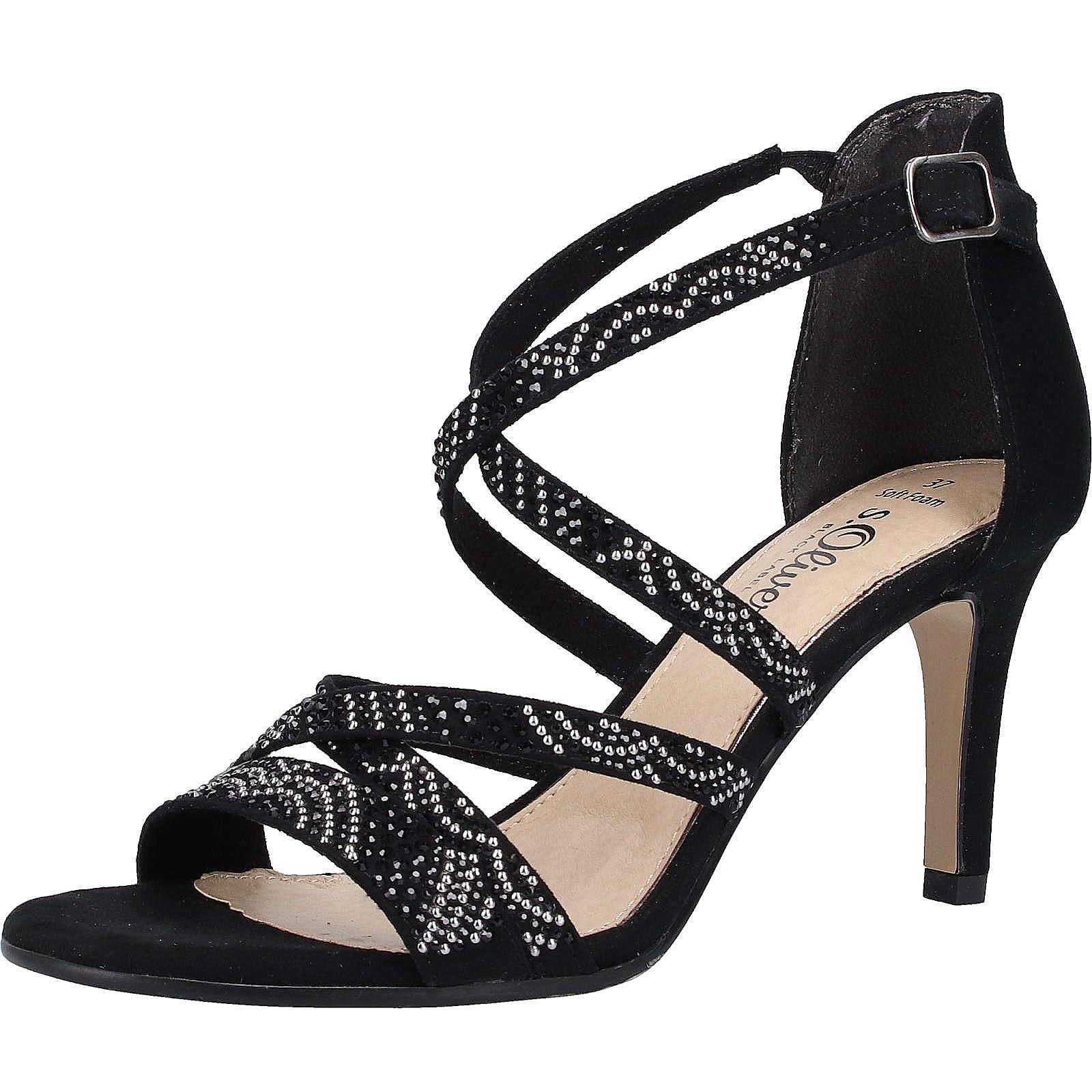 s.Oliver Shoes Sandalen Plateau-Sandaletten schwarz Damen Gr. 36