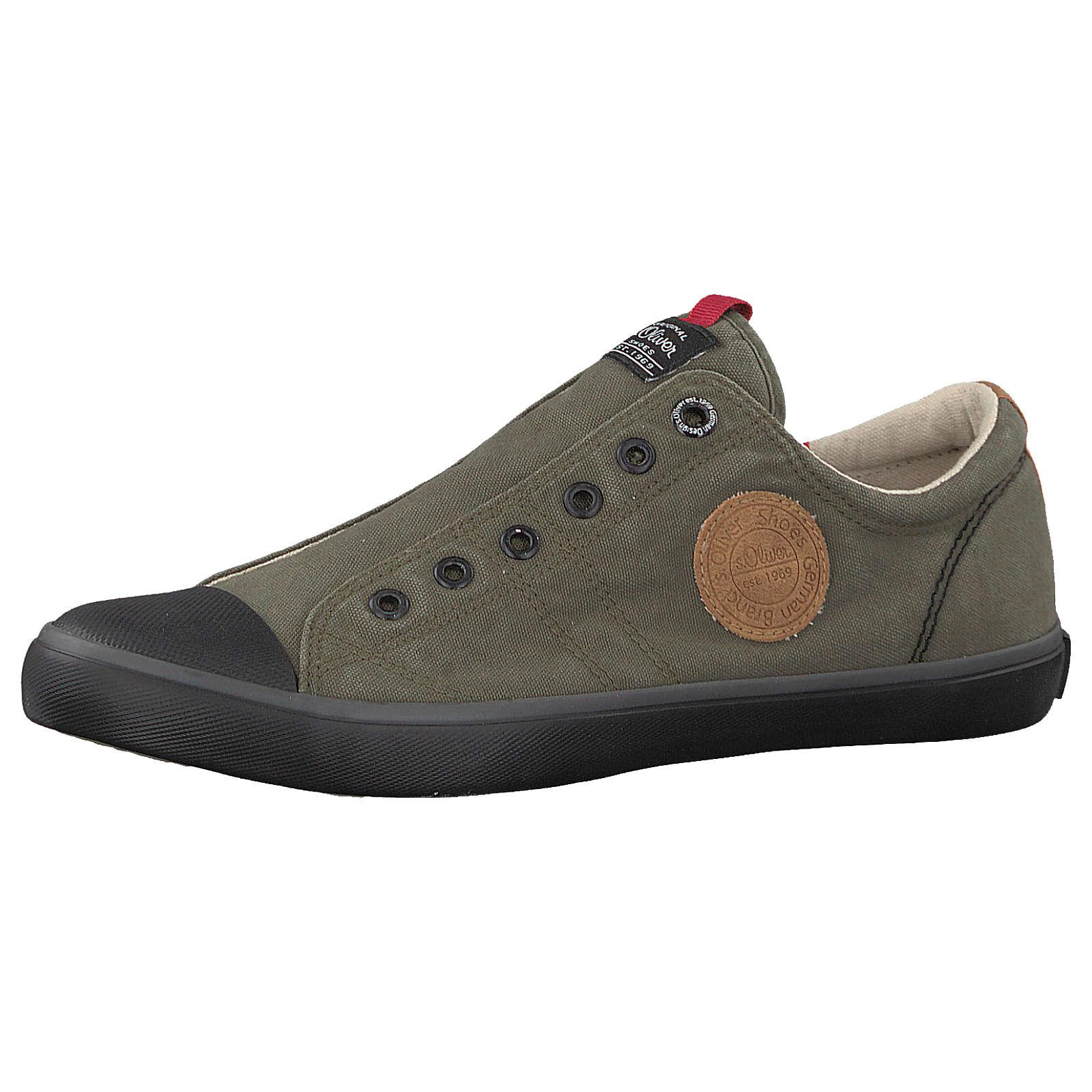 s.Oliver Slip-On-Sneaker khaki Herren Gr. 45