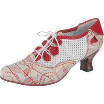 SIMEN Klassische Halbschuhe rot/weiß Damen Gr. 36