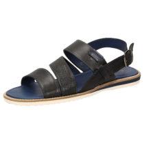 Sioux Sandale Milito-701 Klassische Sandalen schwarz Herren Gr. 39