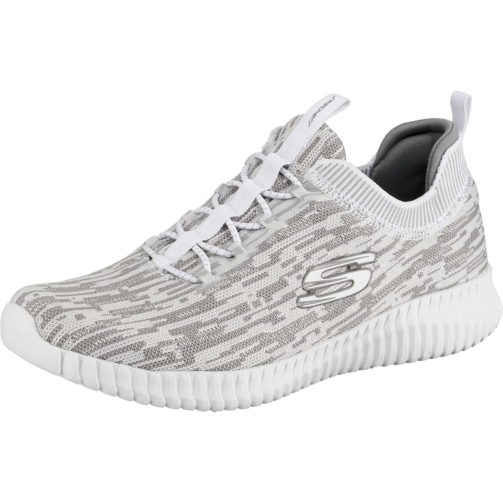 SKECHERS ELITE FLEX HARTNELL Sneakers Low weiß/grau Herren Gr. 48,5