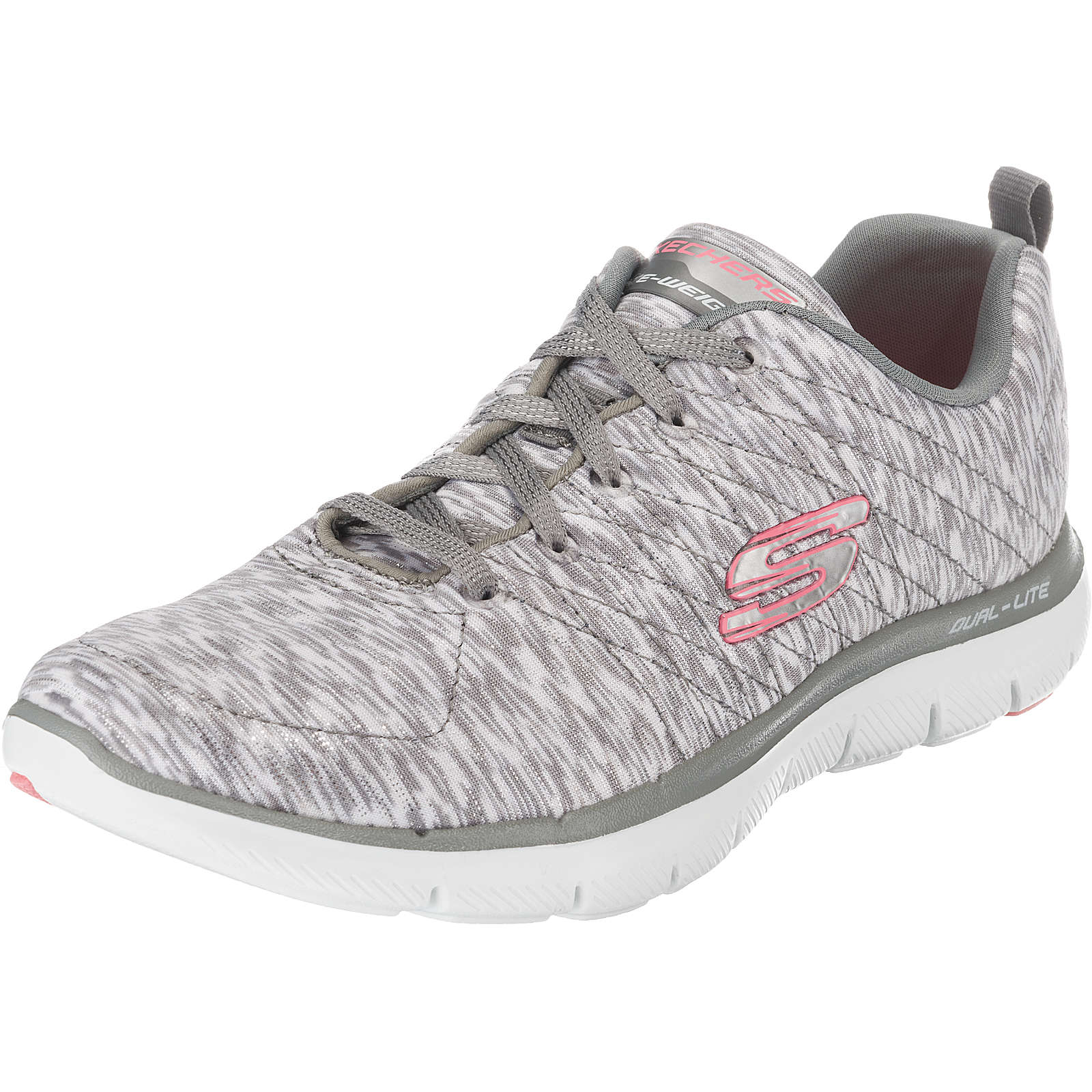 SKECHERS FLEX APPEAL 2.0 REFLECTION Sneakers Low grau Damen Gr. 38