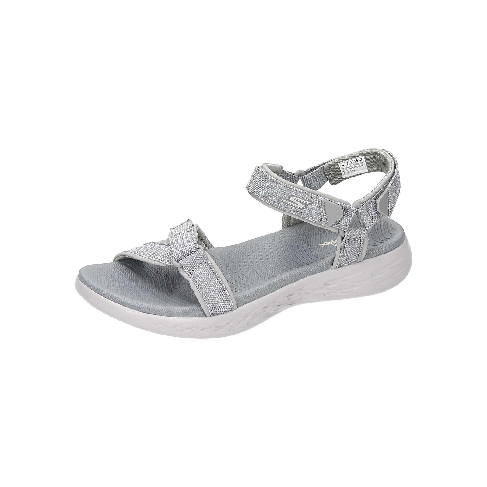 SKECHERS Damen Sandale Klassische Sandaletten grau Damen Gr. 37