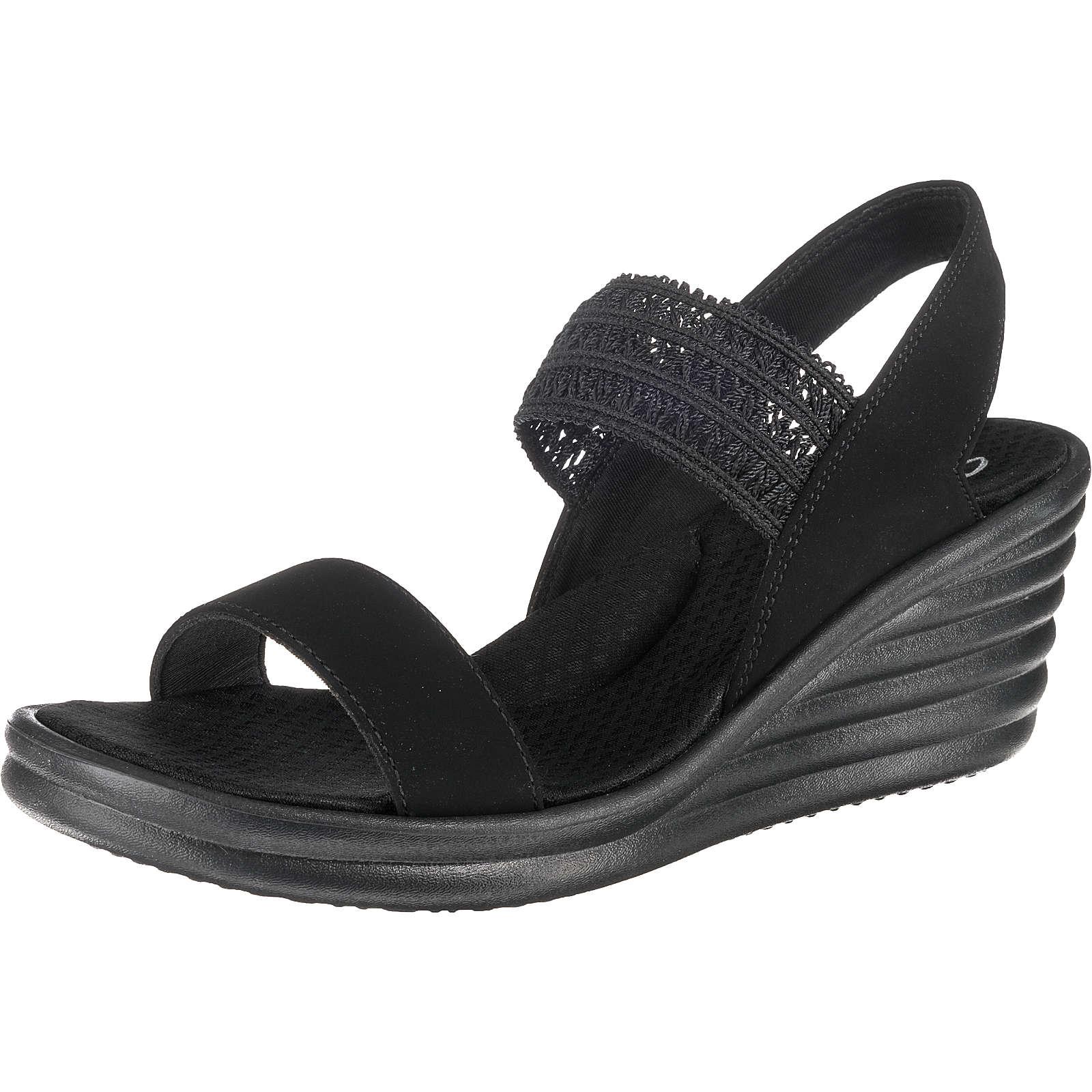 SKECHERS RUMBLER WAVE DRAMA DIVA Klassische Sandaletten schwarz Damen Gr. 36