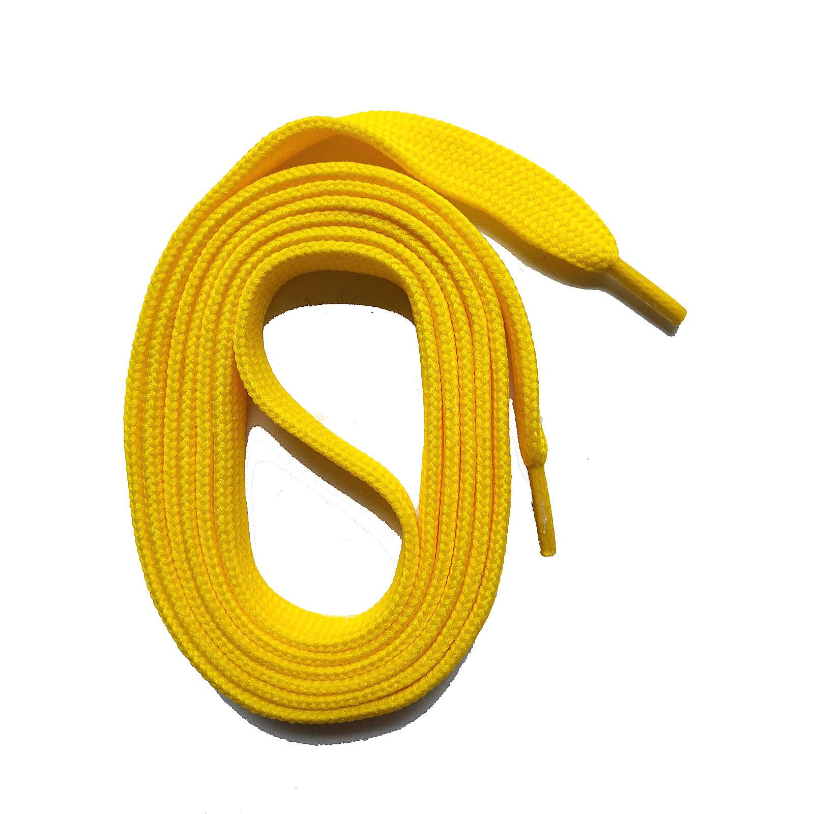 SNORS shoefriends SNORS Schnürsenkel flach 100-145cm, 11mm aus Polyester Schnürsenkel gelb Gr. 100