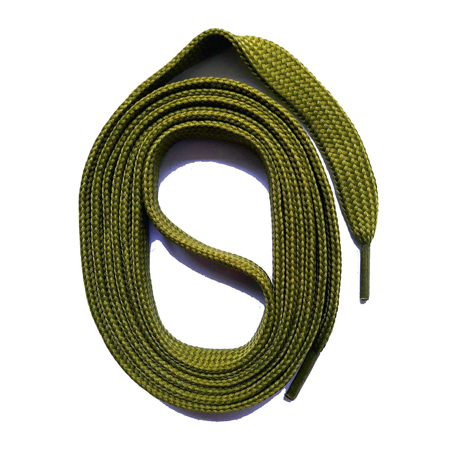 SNORS shoefriends SNORS Schnürsenkel flach 60-240cm, 7mm aus Polyester Schnürsenkel khaki Gr. 240