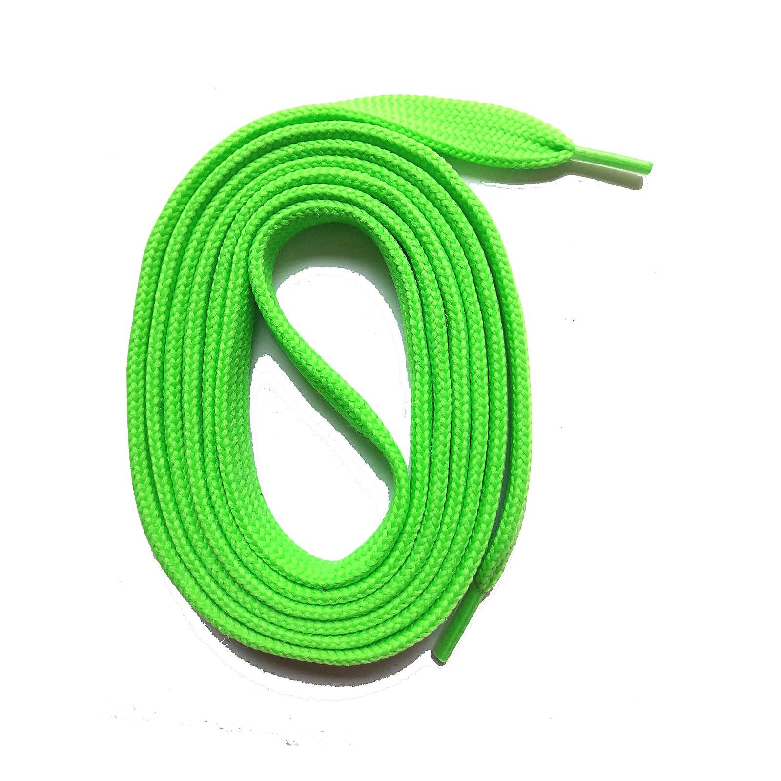 SNORS shoefriends SNORS Schnürsenkel flach 60-240cm, 7mm aus Polyester Schnürsenkel neongrün Gr. 60