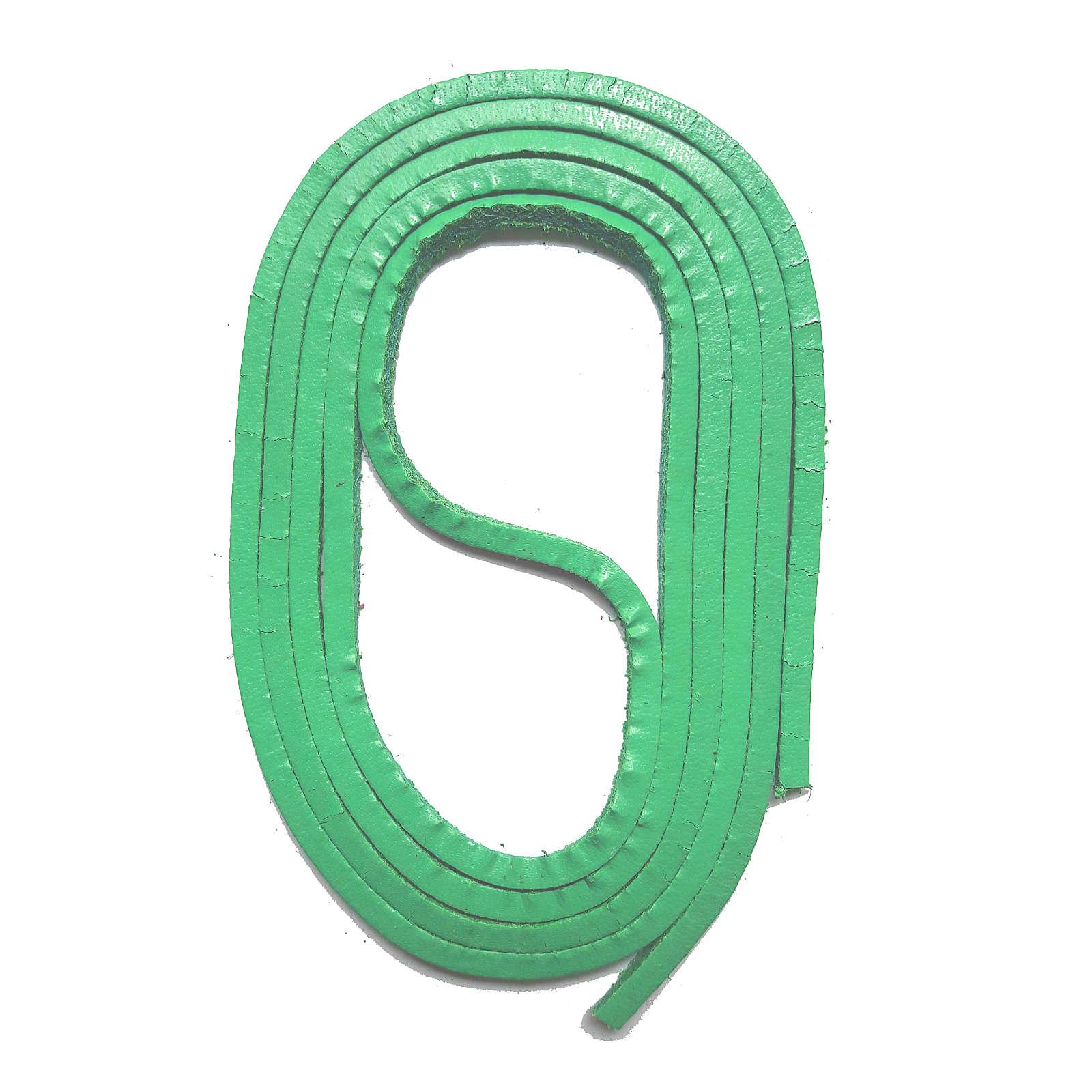SNORS shoefriends SNORS Schnürsenkel Leder 120cm, 3mm aus echtem Rindsleder Schnürsenkel grün Gr. 120