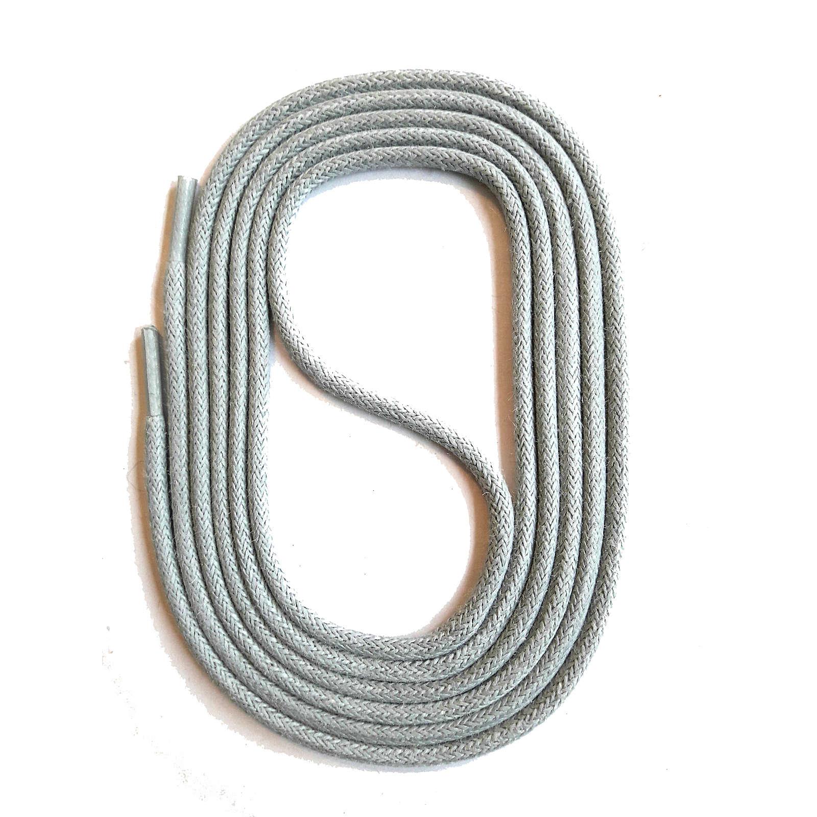 SNORS shoefriends SNORS Schnürsenkel rund natur 75-130cm, 3mm aus Baumwolle Schnürsenkel hellgrau Gr. 90
