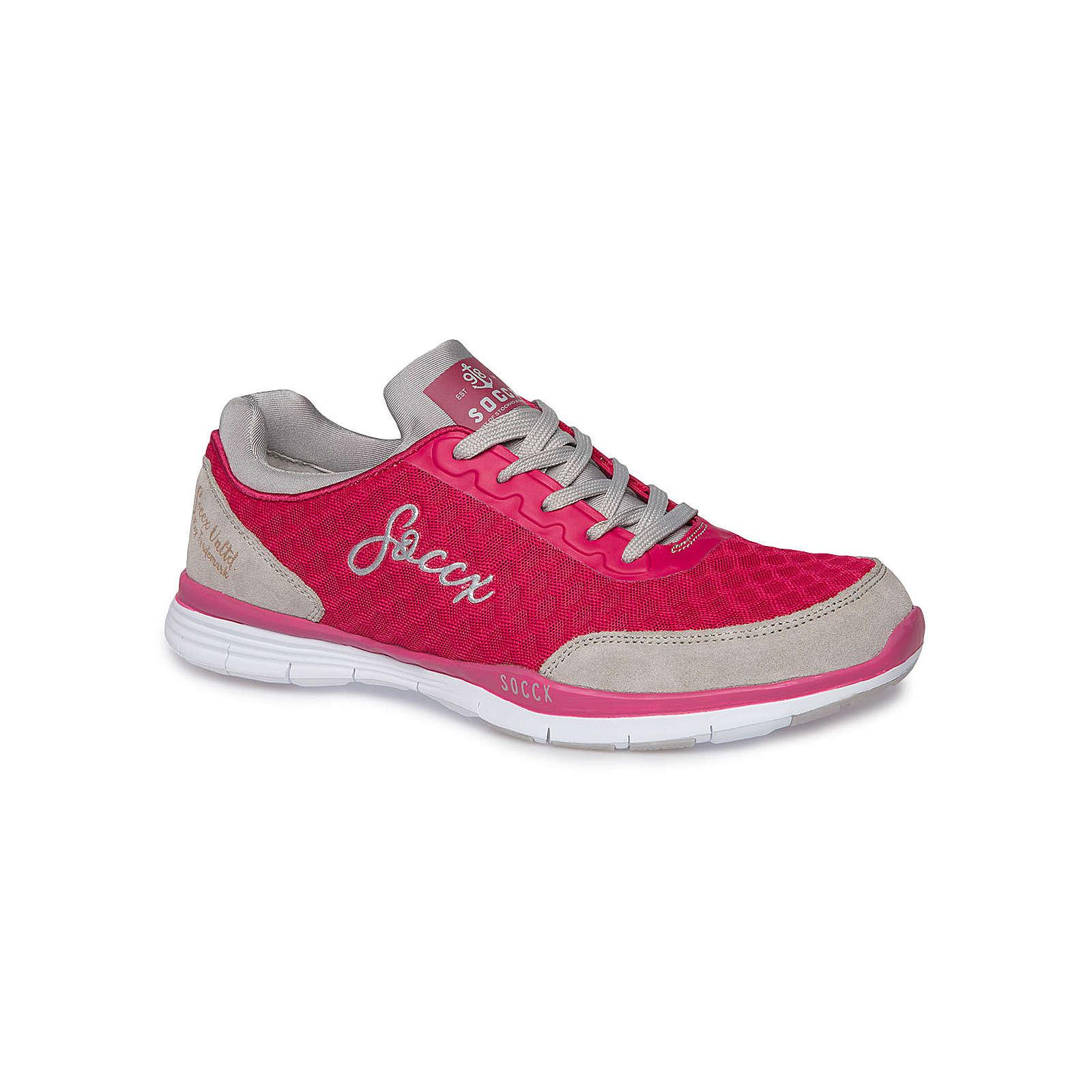 Soccx Sportlicher Sneaker mit Mesh-Struktur fuchsia Damen Gr. 41