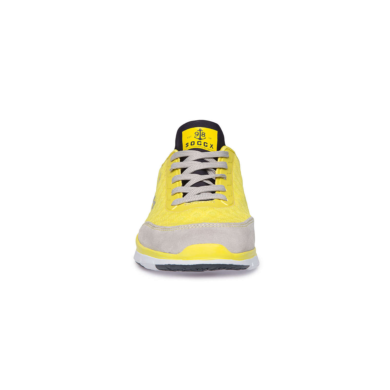 Soccx Sportlicher Sneaker mit Mesh-Struktur gelb Damen Gr. 37