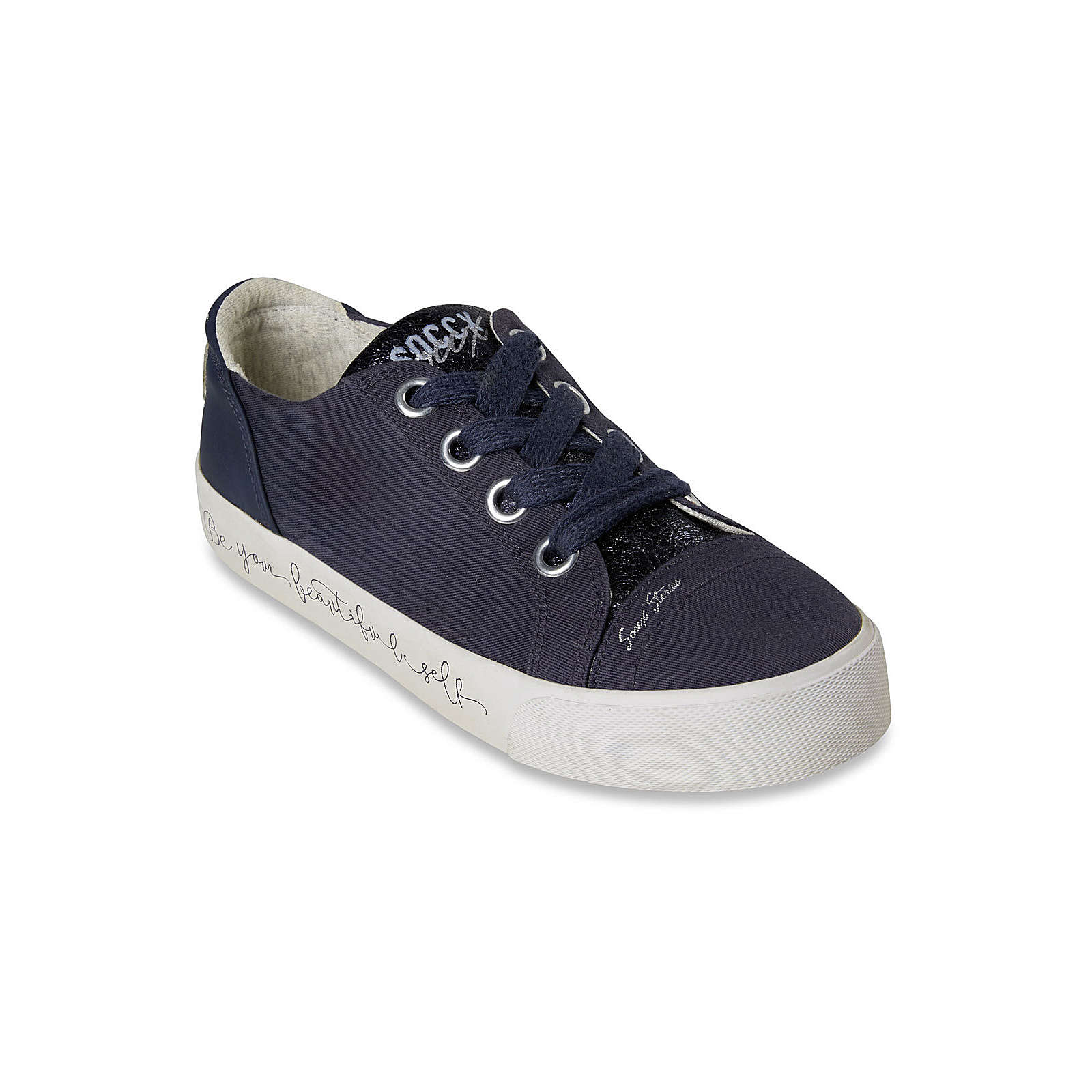Soccx Veganer Plateau-Sneaker dunkelblau Damen Gr. 40
