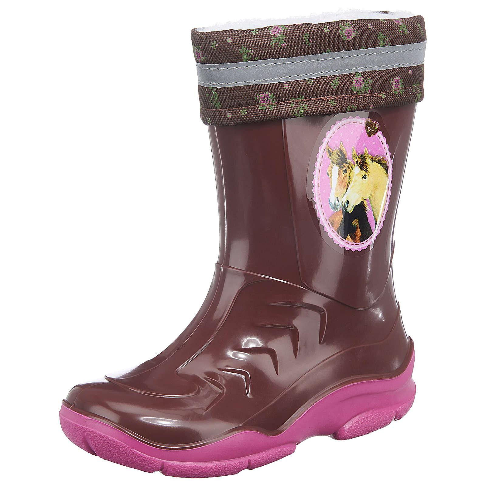Spiegelburg Pferdefreunde Gummistiefel für Mädchen, gefüttert pink Mädchen Gr. 31