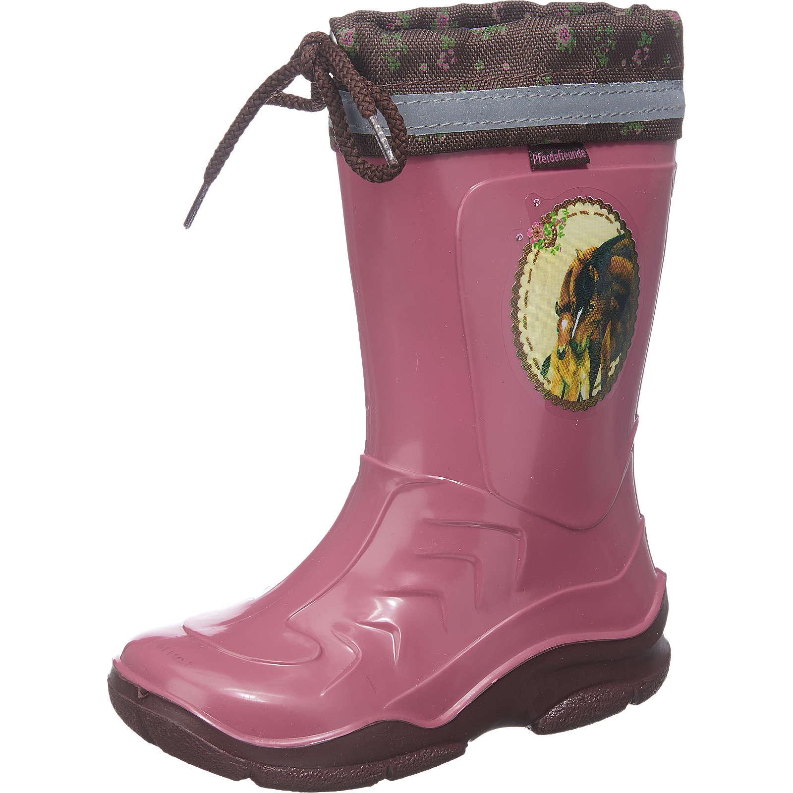 Spiegelburg PFERDEFREUNDE Kinder Gummistiefel rosa Mädchen Gr. 29