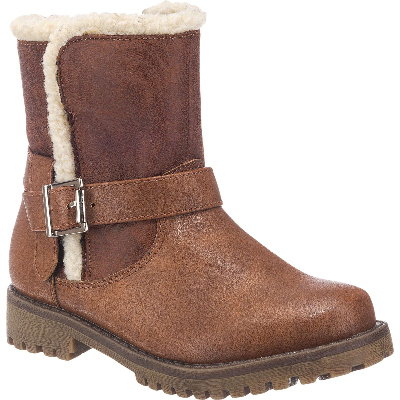 SPROX Stiefel für Mädchen, gefüttert braun Mädchen Gr. 28