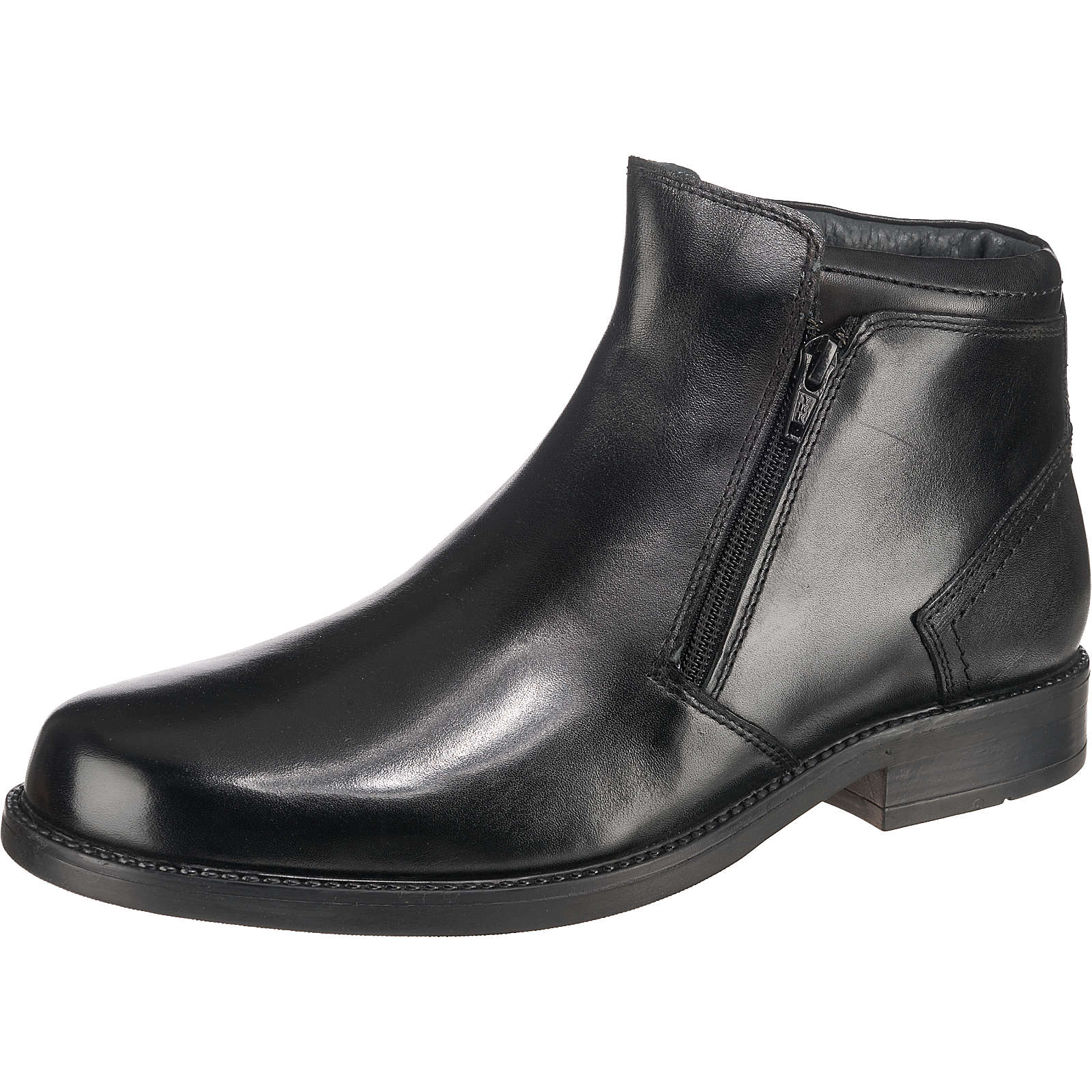 STONEFORD Komfort-Stiefeletten Leder schwarz Herren Gr. 44