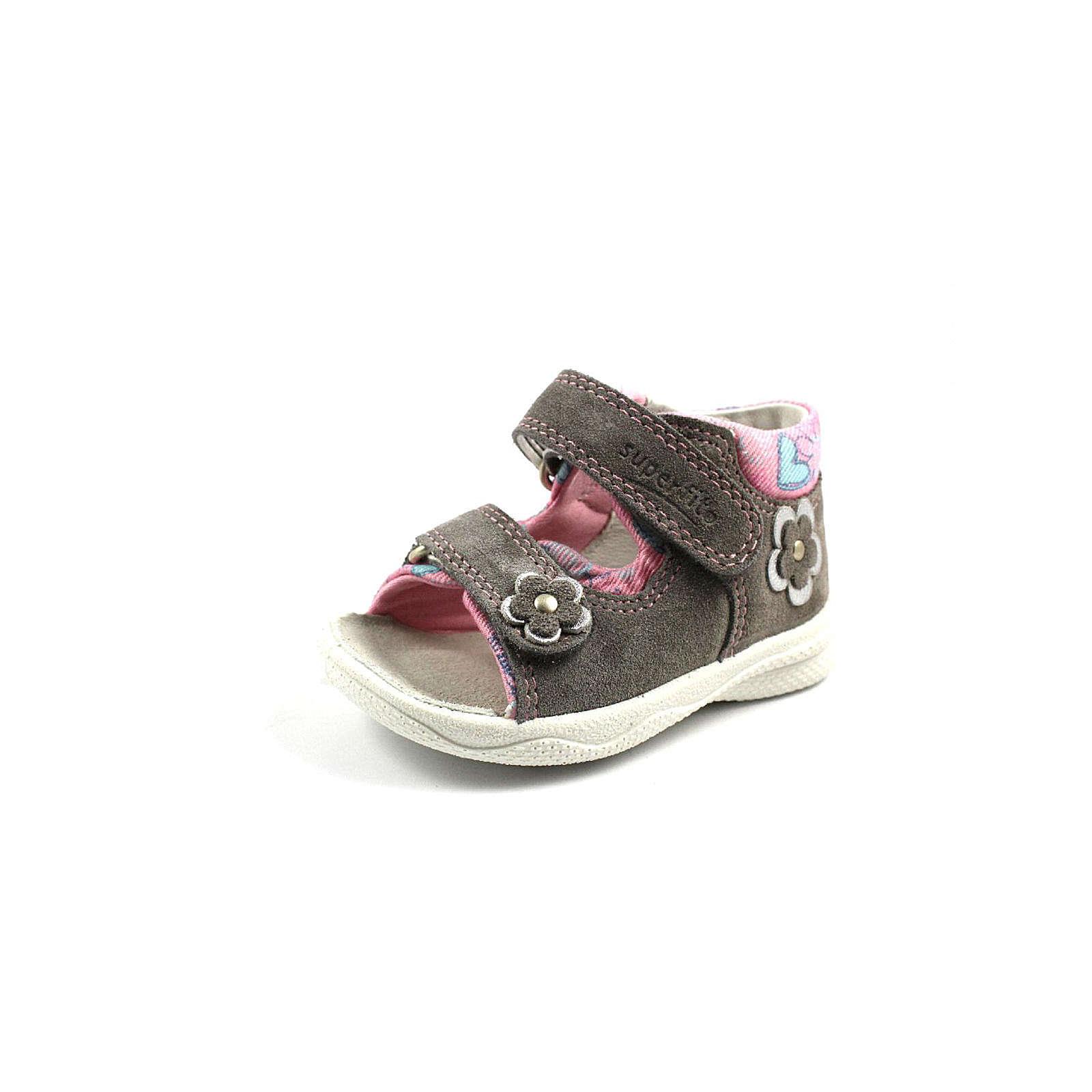 superfit Sandalen für Mädchen grau Mädchen Gr. 18