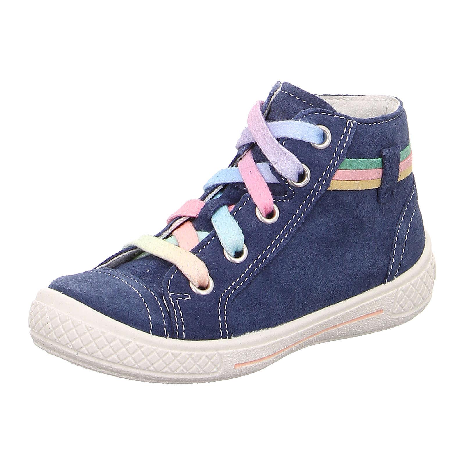 superfit Sneakers High TENSY für Mädchen, WMS-Weite M4 blau Mädchen Gr. 27