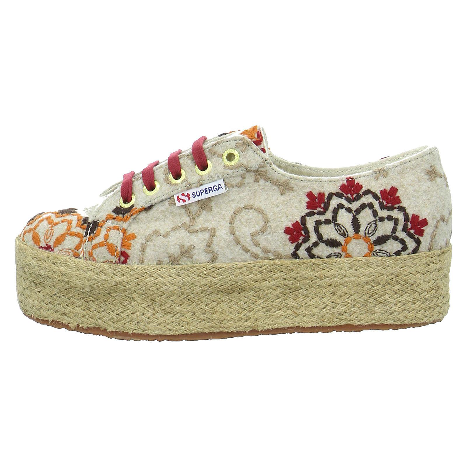 Superga® Sneakers Low EMBROIDERYFLOWER beige Damen Gr. 36