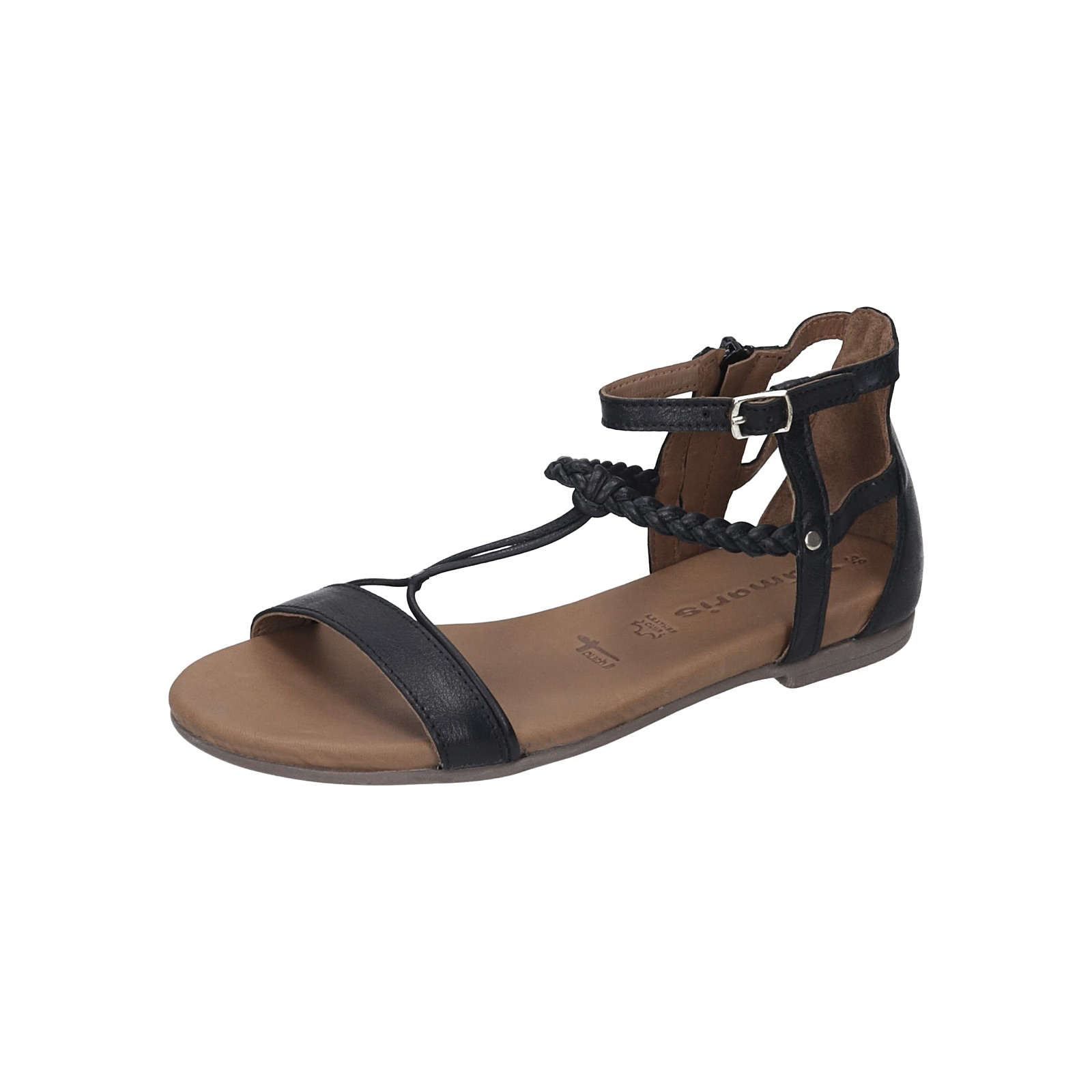 Tamaris Damen Sandalette T-Steg-Sandalen schwarz Damen Gr. 41