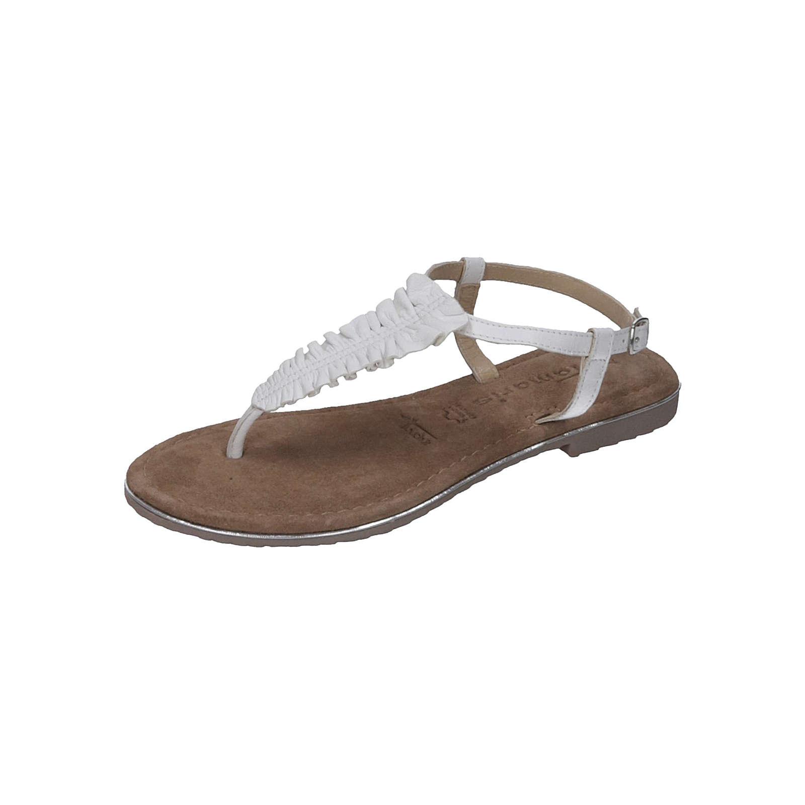Tamaris Damen Sandalette T-Steg-Sandalen weiß Damen Gr. 38