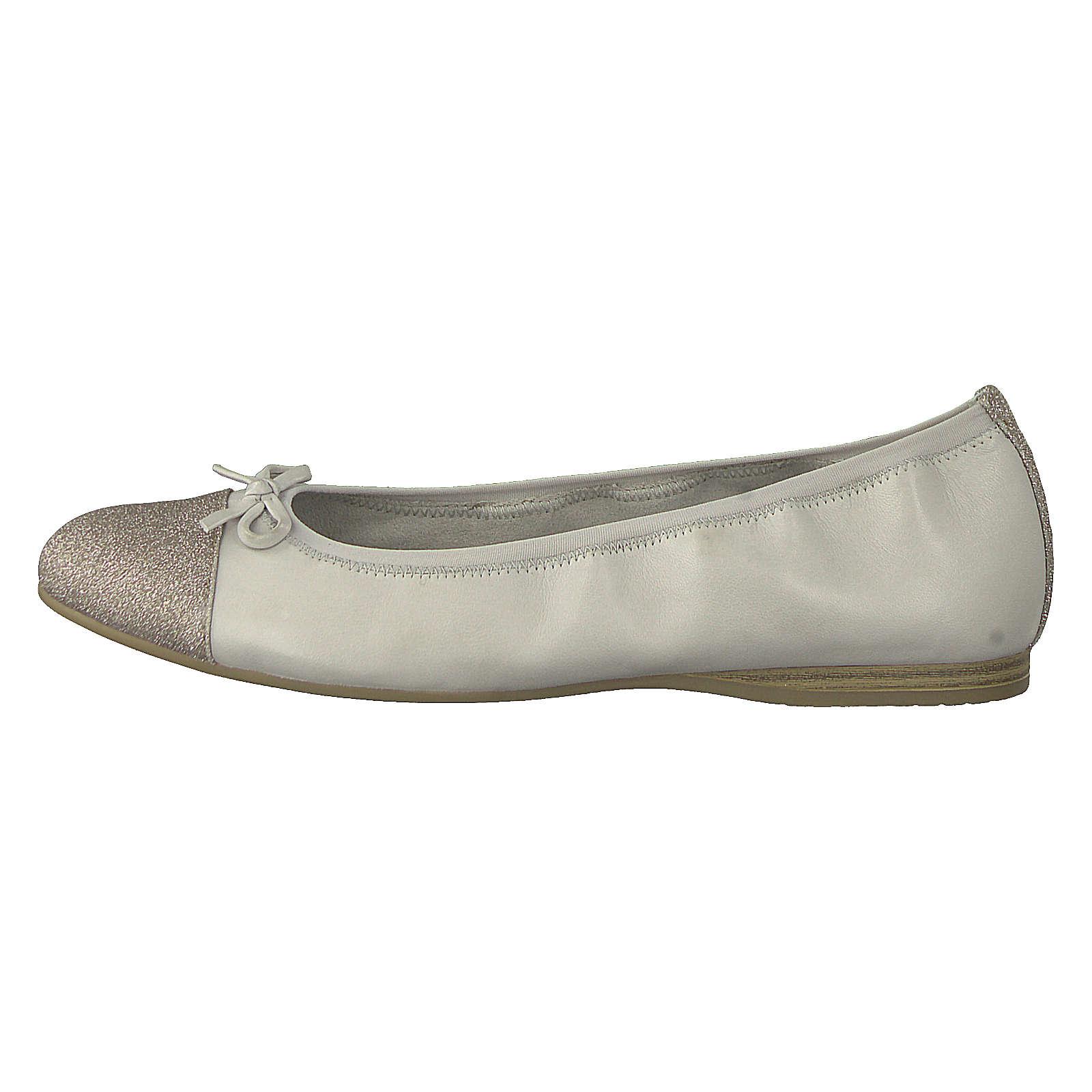 Tamaris Klassische Ballerinas creme Damen Gr. 36