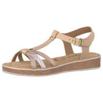 Tamaris Klassische Sandalen beige-kombi Damen Gr. 37