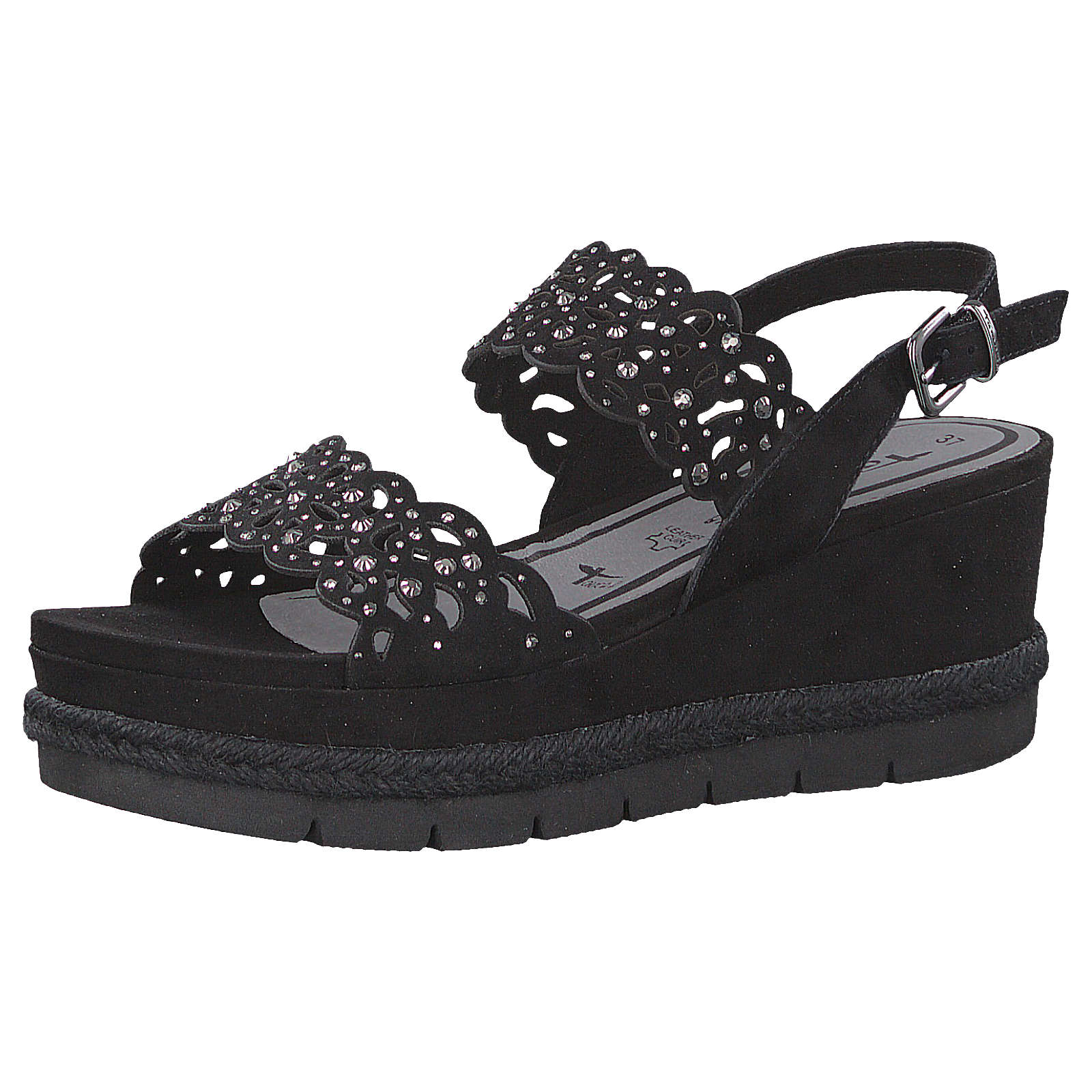 Tamaris Plateau-Sandaletten schwarz Damen Gr. 40