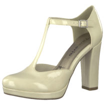 Tamaris T-Steg-Pumps beige Damen Gr. 40