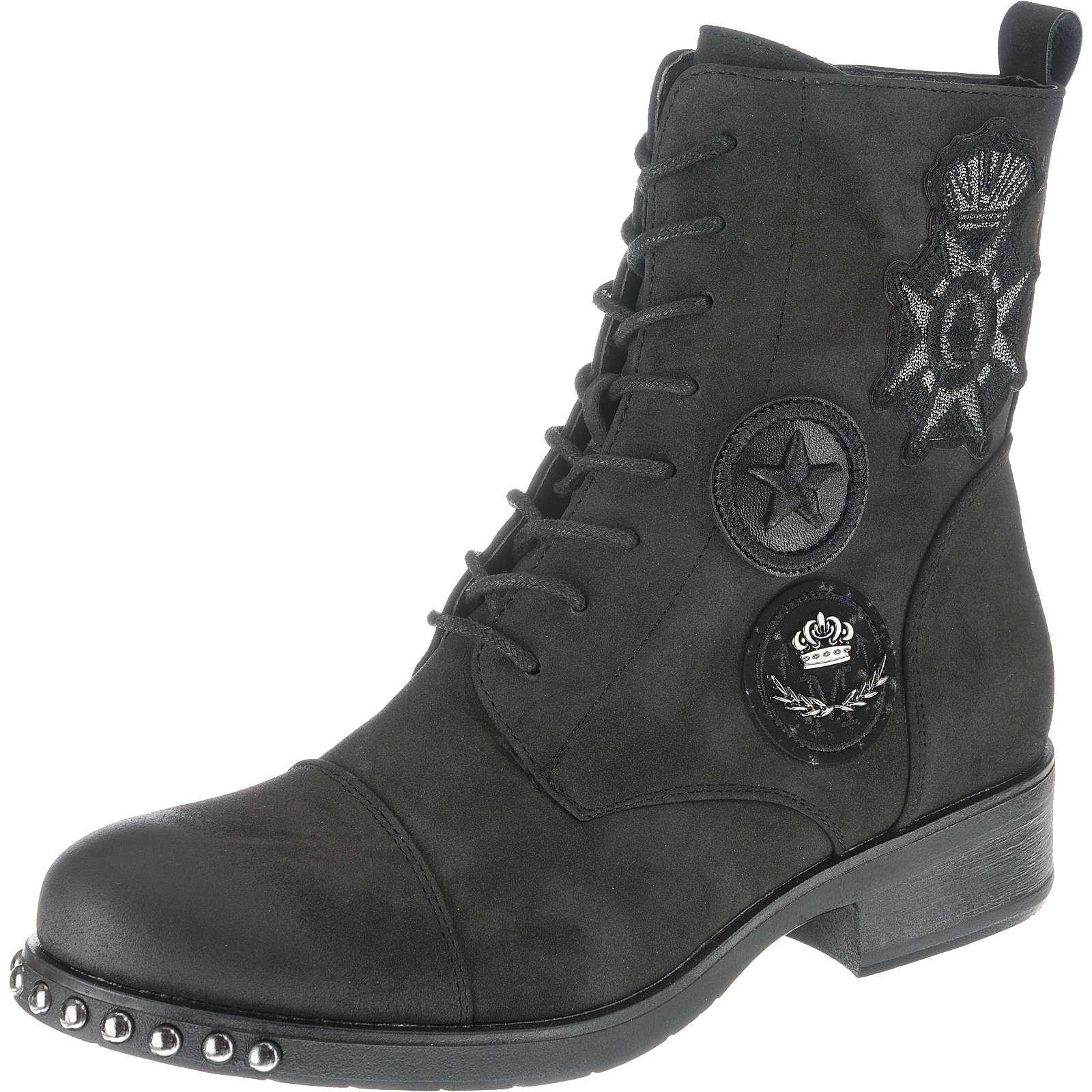 Taxi Shoes Schnürstiefeletten schwarz Damen Gr. 39