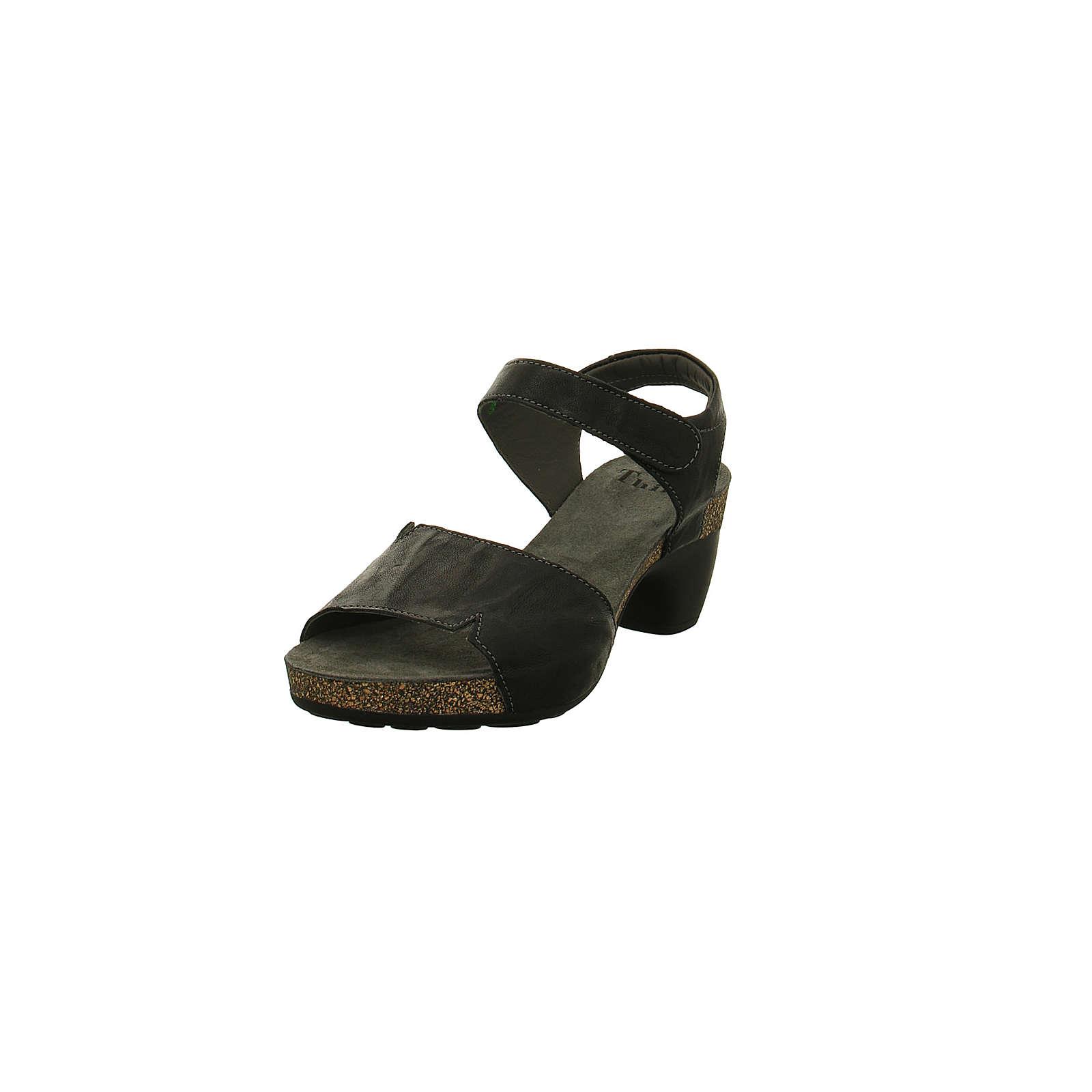 Think! Think Damen Sandalette – Traudi – Glattleder in schwarz – 89572-09 Klassische Sandaletten schwarz Damen Gr. 38