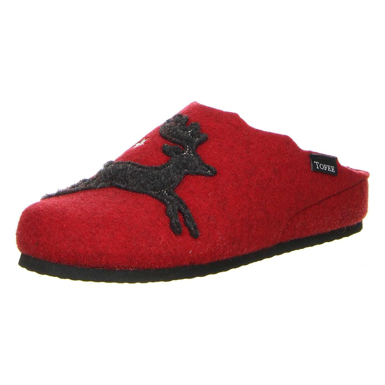 Tofee Damen Hausschuhe (Elch) rot rot Damen Gr. 41