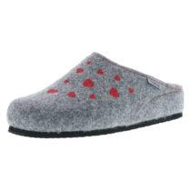 Tofee Damen Hausschuhe Pantoffeln Naturwollfilz (Herzen) grau grau Damen Gr. 37