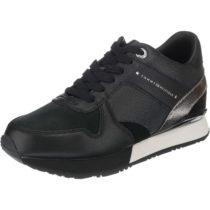 TOMMY HILFIGER SNEAKER WEDGE Sneakers Low schwarz Damen Gr. 40
