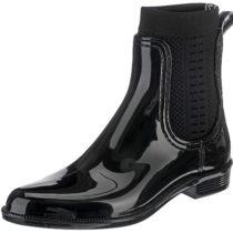 TOMMY HILFIGER TOMMY KNIT RAIN BOOT Ankle Boots schwarz Damen Gr. 36