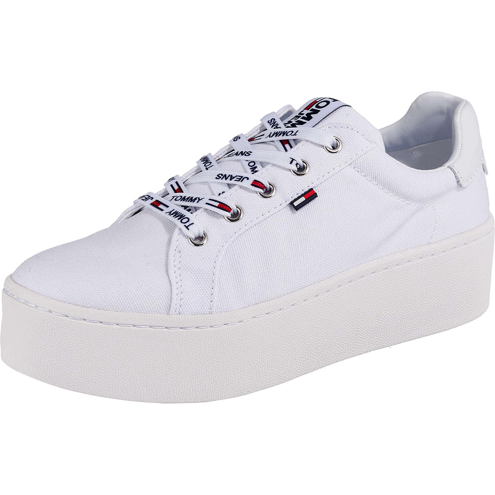 TOMMY JEANS FLATFORM SNEAKER Sneakers Low weiß Damen Gr. 40