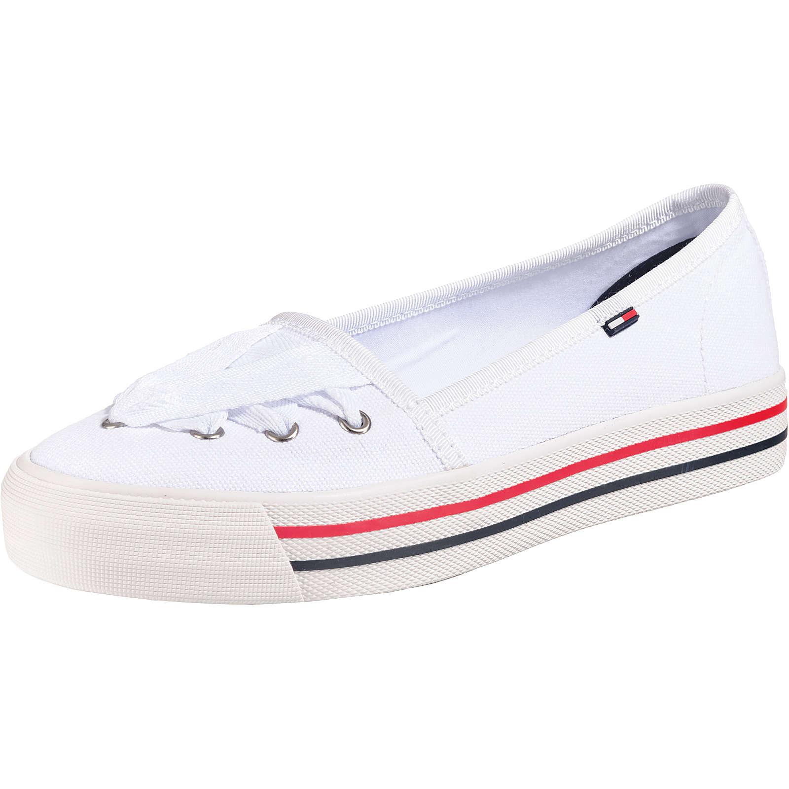 TOMMY JEANS Lace Sneaker Sportliche Ballerinas weiß Damen Gr. 39