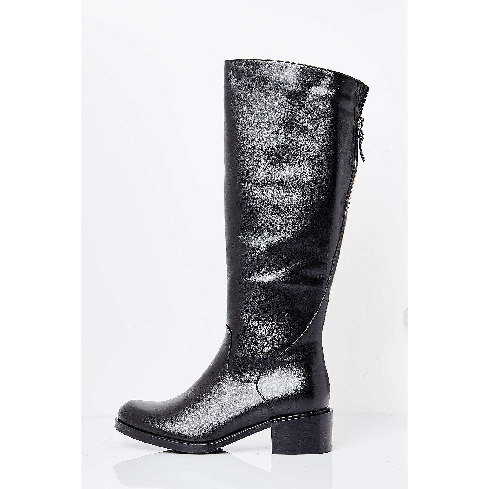 usha Edle Overknees aus feinstem Leder schwarz Damen Gr. 38