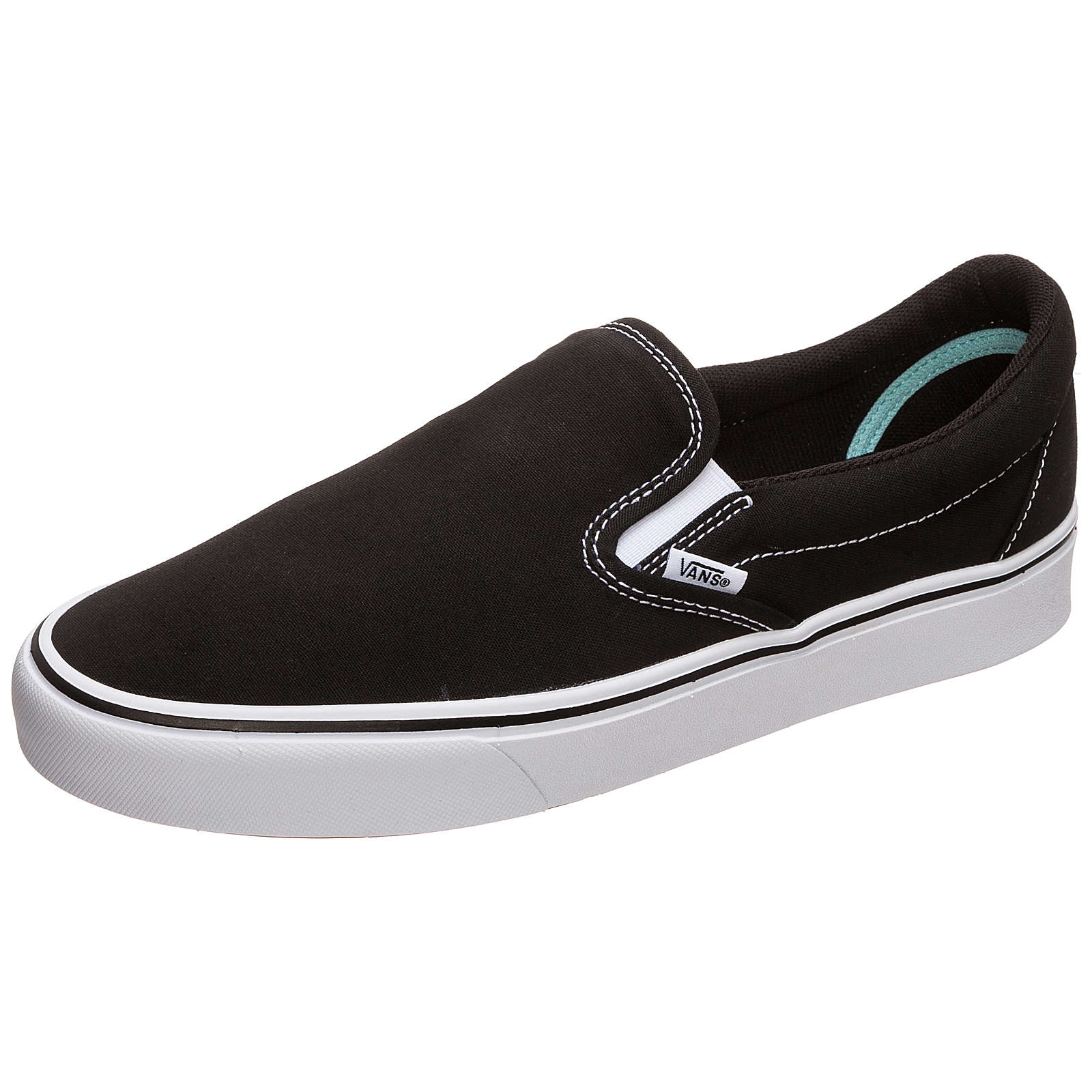 VANS Slip-On ComfyCush Sneaker Damen schwarz/weiß Gr. 44,5