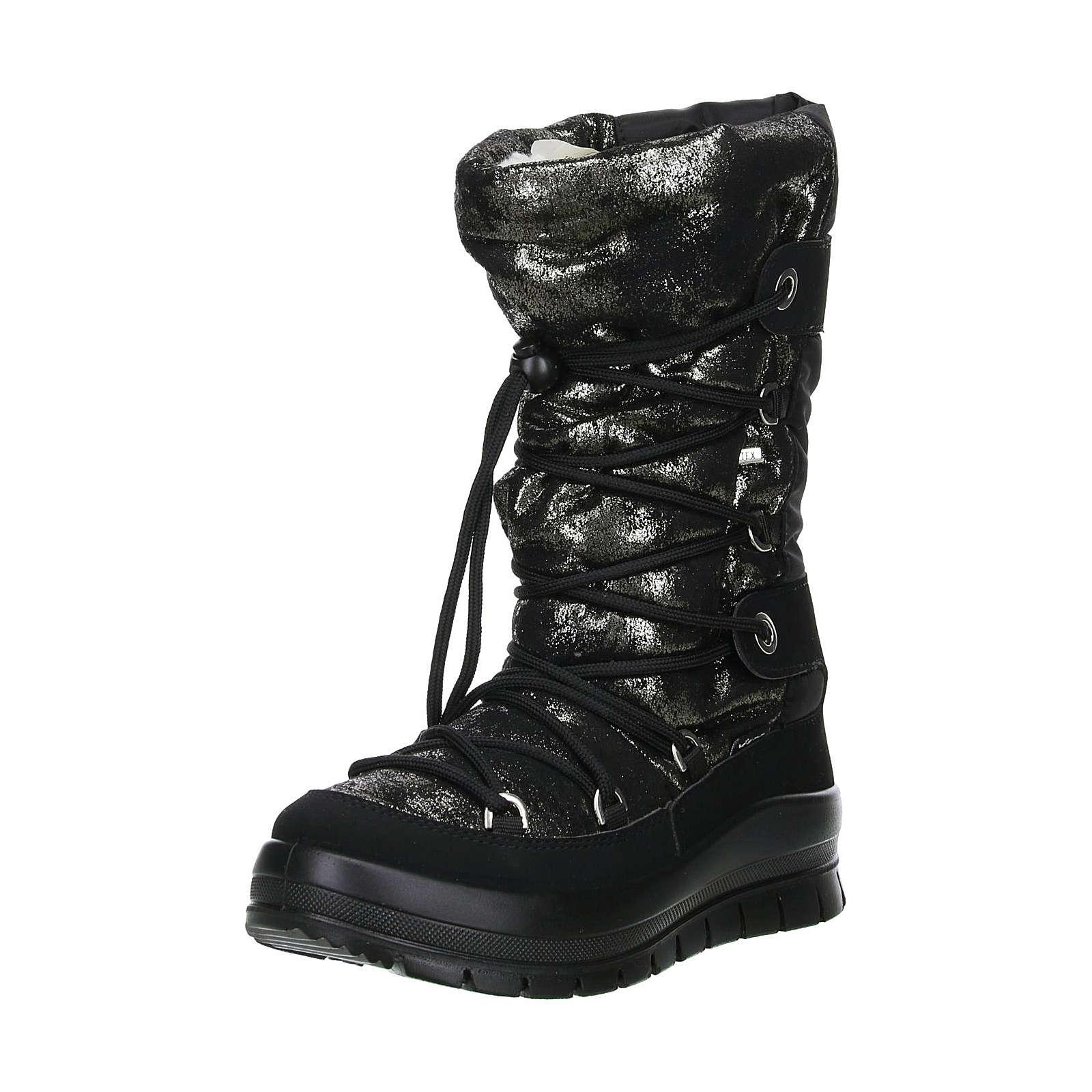 Vista Damen Winterstiefel Snowboots schwarz/metallic schwarz Damen Gr. 40