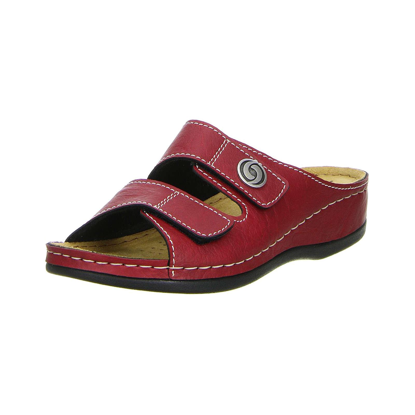 Vista Komfort-Pantoletten rot Damen Gr. 38