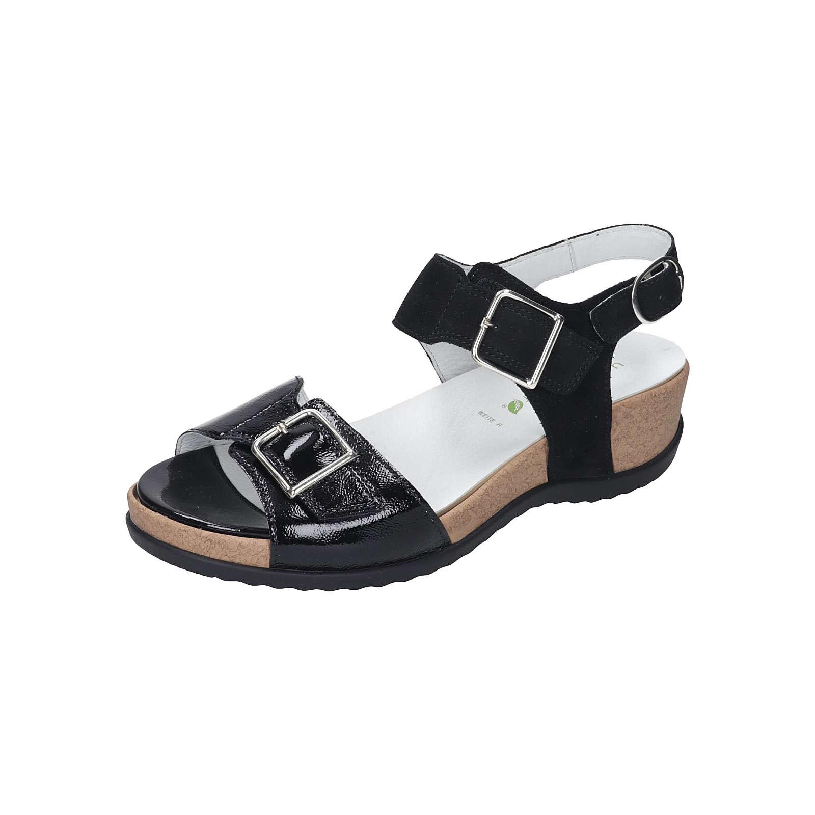WALDLÄUFER Damen Sandale Komfort-Sandalen schwarz Damen Gr. 36 2/3
