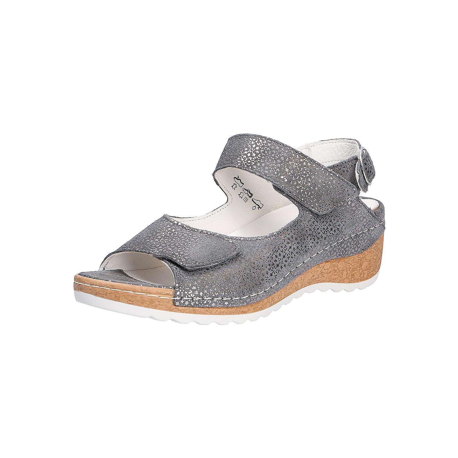 WALDLÄUFER HANILA Komfort-Sandalen grau Damen Gr. 36